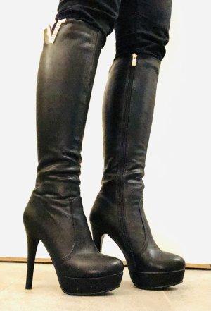 Platform Boots black-gold-colored