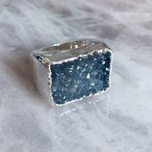 Platet Crystal Carved Ring