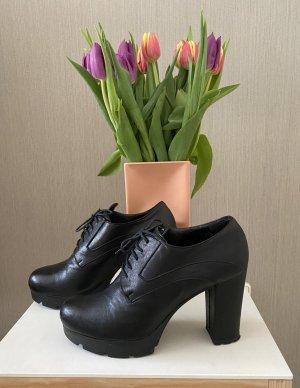 Plateu Schuhe schwarz Größe 40 (made in Italy)