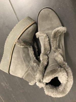 Copenhagen Luxe Platform Booties grey leather