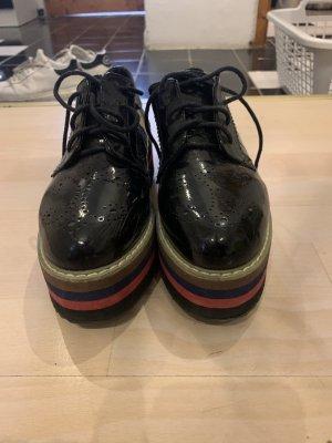 unbekannte Sneaker con tacco nero-rosso