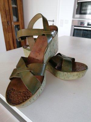 Platform High-Heeled Sandal green grey