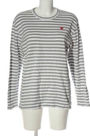 Play Comme des Garcons T-shirt rayé blanc-gris clair motif rayé