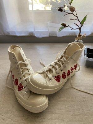 Comme des Garçons Sneaker stringata bianco sporco