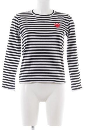 PLAY Gestreept shirt zwart-wit gestreept patroon casual uitstraling