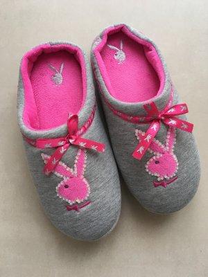 Playboy Pantuflas gris claro-rosa