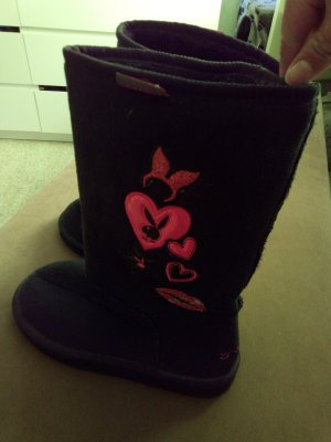 Playboy House Boots black-pink