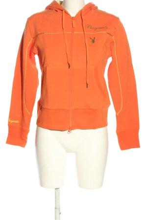 Playboy Maglione con cappuccio arancione chiaro Stampa a tema stile casual