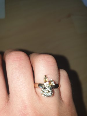 Vintage Chic Statement Ring gold-colored