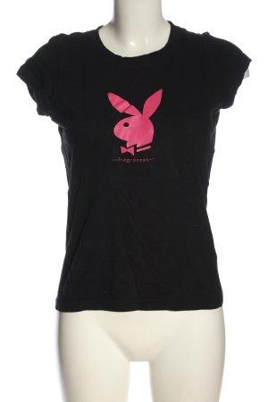 Playboy T-Shirt black-pink themed print casual look