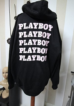 Playboy x Missguided Pull long noir-rose