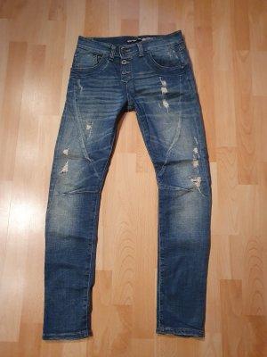 Please Jeans da motociclista azzurro-blu acciaio