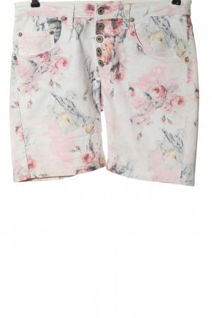 Please Shorts white-red allover print casual look