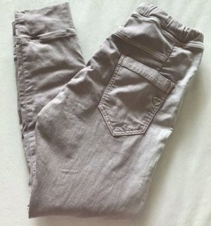 Please Pantalon boyfriend mauve-argenté
