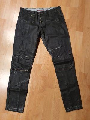 Please Biker jeans zwart
