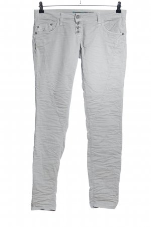 Please Workowate jeansy jasnoszary Tkanina z mieszanych włókien