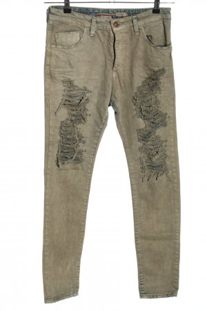 Please Baggy jeans khaki casual uitstraling