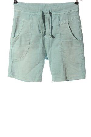 Please Bermudas turquoise casual look