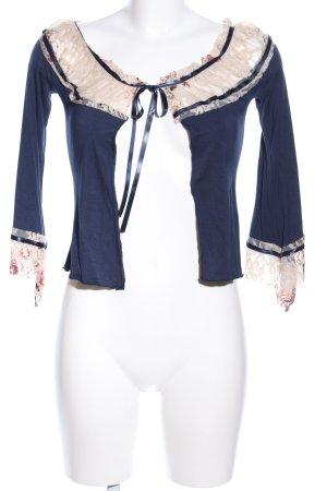 Please Bolero blu-bianco sporco elegante