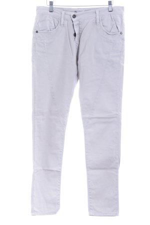 Please Pantalón boyfriend beige claro estilo minimalista