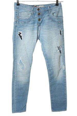 Please Jeans boyfriend blu stile casual