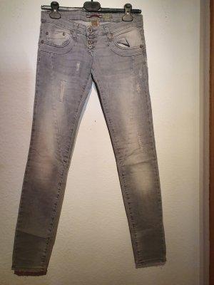 Please Jeans slim fit grigio chiaro