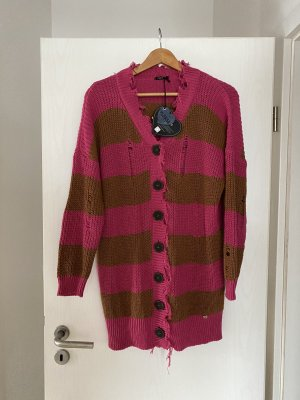 Please Coarse Knitted Jacket multicolored