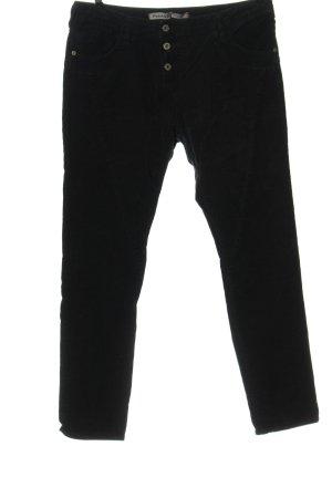 Please Spodnie sztruksowe czarny W stylu casual