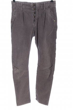 Please Corduroy Trousers light grey casual look