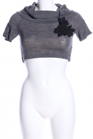 Please Cropped Shirt hellgrau meliert Casual-Look