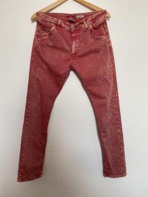 Please Damen Hose Jeans Skinnyjeans Rot