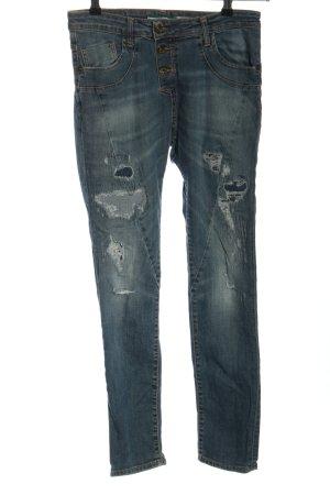 PLEASE Denim 7/8-jeans blauw casual uitstraling