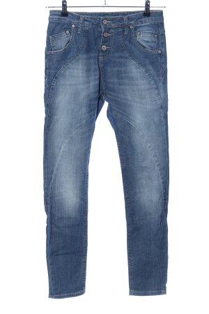 PLEASE Denim Jeans larghi blu stile casual