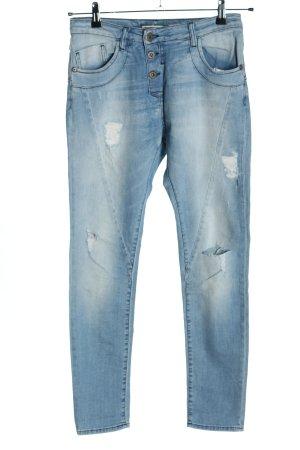PLEASE Denim Skinny Jeans blau Casual-Look