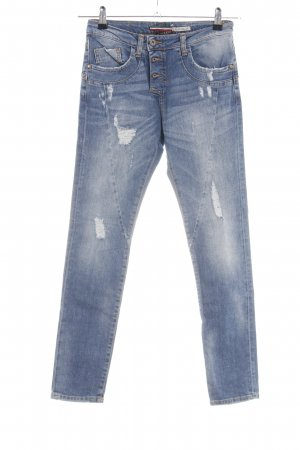 PLEASE Denim High Waist Jeans blau Casual-Look