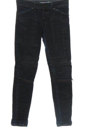 PLEASE Denim Jeans a sigaretta blu stile casual