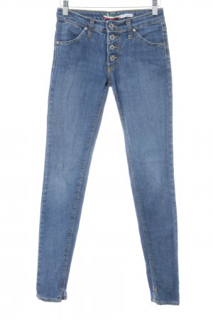 PLEASE Denim Skinny Jeans blau Casual-Look