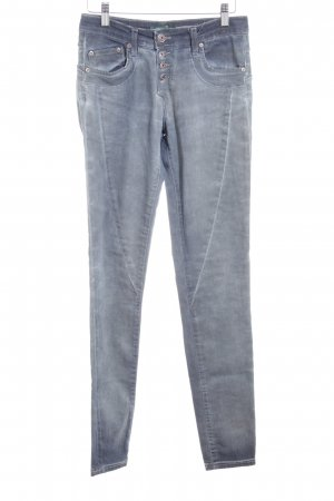 PLEASE Denim Skinny Jeans graublau Casual-Look