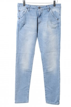 PLEASE Denim Straight-Leg Jeans blau Casual-Look