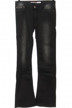 PLEASE Denim Straight-Leg Jeans schwarz Street-Fashion-Look