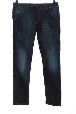 PLEASE Denim Straight-Leg Jeans blau Casual-Look