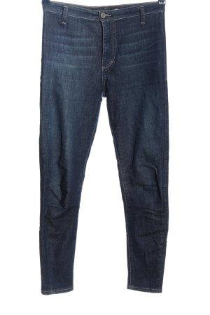 PLEASE Denim Stretch Jeans blau Casual-Look