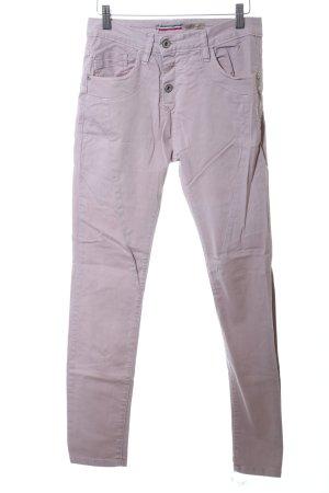 Please Pantalón de cinco bolsillos lila look casual