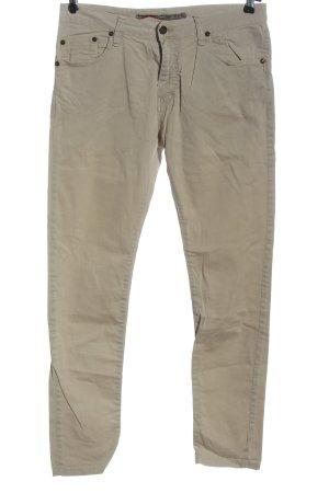 Please Pantalone cinque tasche bianco sporco motivo a righe stile casual