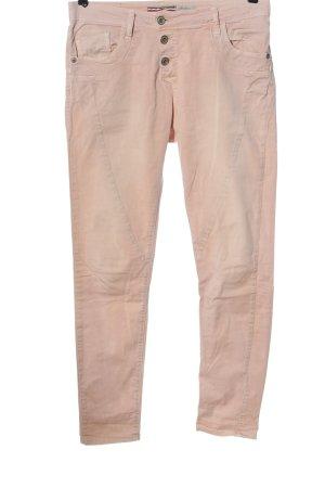 Please Pantalon cinq poches rose chair style décontracté