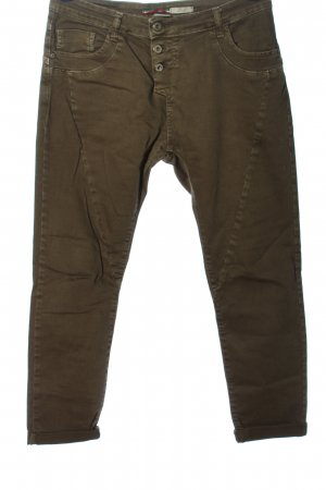 Please Pantalón de cinco bolsillos marrón tejido mezclado