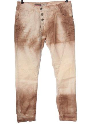 Please Pantalon cinq poches rose chair motif abstrait style décontracté