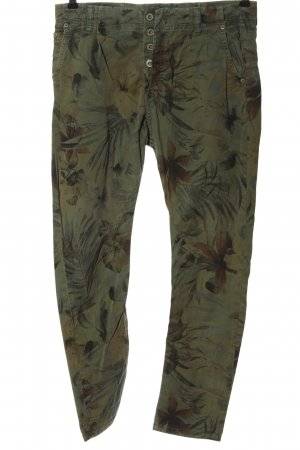 Please High-Waist Hose khaki Allover-Druck Casual-Look