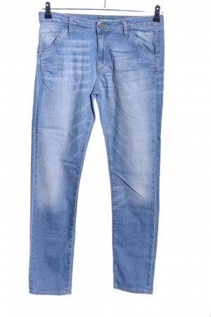 Please Hoge taille jeans blauw casual uitstraling
