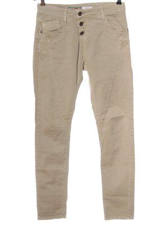Please Jeans a vita alta bianco sporco stile casual